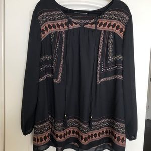 Daniel Rainn Boho top. Size 2x. Black.
